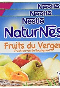 Livres Couvertures de Nestlé Bébé Naturnes Fruits du Verger Compote dès 6 mois 4 x 130g - Lot de 3