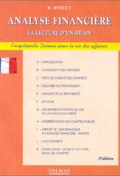 Livres Couvertures de ANALYSE FINANCIERE - LA LECTURE D'UN BILAN