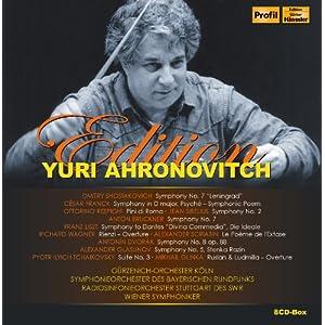 ユーリ・アーロノヴィチ・ライヴ BOX (Edition Yuri Ahronovitch) (8CD-BOX) [輸入盤]