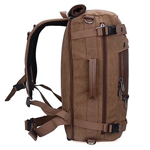 Witzman Men's Vintage Canvas Duffel Shoulder Backpack Travel A2020 ...