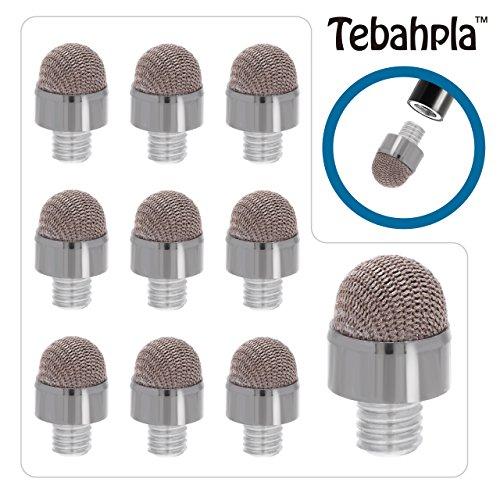 テバップラTebahpla 標準ペン先タイプ スタイラスペン タッチペン 導電繊維 3本セット専用 交換用ペン先10個セット iPhone iPadなどの静電容量式タッチパネルに対応
