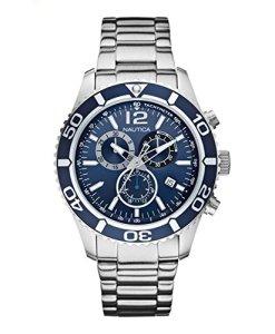 Nautica  0 - Reloj de cuarzo para 0, con correa de 0, color plateado