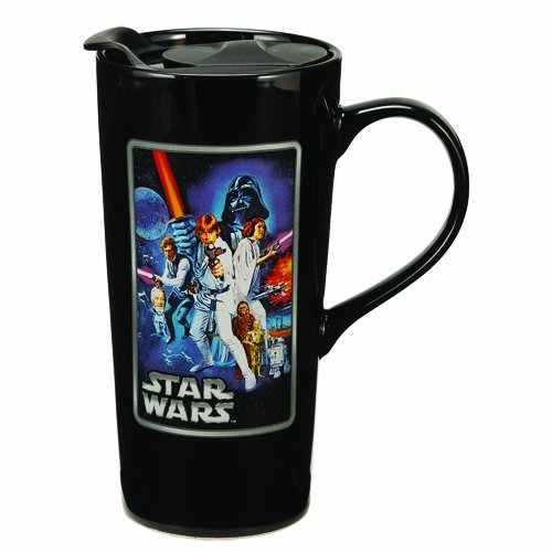 Vandor 99861 Star Wars A New Hope 20 oz Ceramic Travel Mug, Multicolor