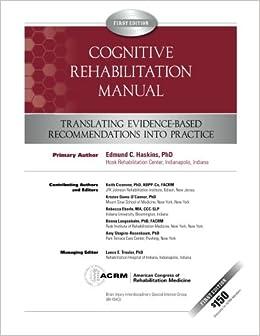 Cognitive Rehabilitation Manual Translating Evidence