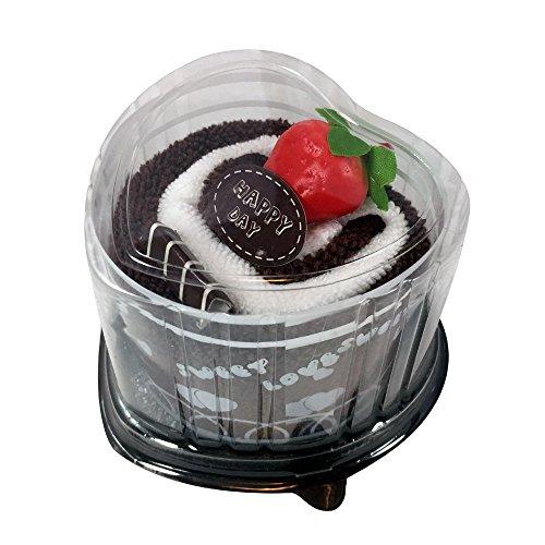 (Mignon) ケーキ タオル プチ ギフト ハート の ロールケーキ チョコ