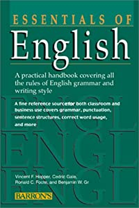 "Cover of ""Essentials of English (Barron's..."