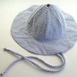 Blue Stripe Sun Hat ~ Baby Boy