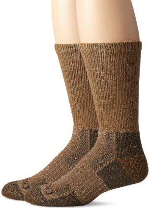 Dickies Men's 2 Pack Steel Toe Moisture Control Crew Socks, Duck Marl, 10-13 Sock/6-12 Shoe