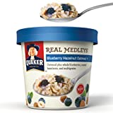 Quaker Real Medleys Blueberry Hazelnut Oatmeal 3 Pack (3 Single Servings)