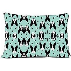"Sofa Car Pillows Case Boston Terrier Mint Boston Terriers Cute Dog Best Dog Fabric Pillow Case (20"" X 30"")"