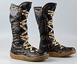 Stiefel Damen Schwarz Schuhe gefüttert Winter Stiefel Gr. 40