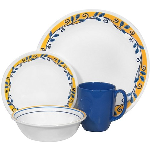 Corelle Livingware 16-Piece Set, Service for 4, Casa Flora