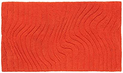grund tapis salle de bain marea pas cher orange 60x90 cm label de qualite oeko tex standard 100 100 coton uni salle de bain uvfzibnm 87