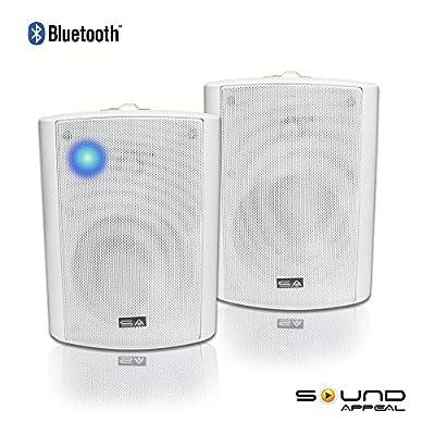 buy bluetooth 5 25 indoor outdoor weatherproof patio speakers white pair by sound appeal drwed5