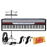 Korg SP250 88-Key Portable Digital Piano Bundle with Music Stand, Two 10-Foot Instrument Cables, Headphones, and Polishing Cloth