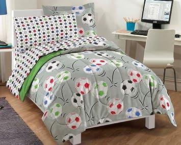 Soccer Ultra Soft Microfiber Comforter Bedding Set
