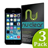 [3-Pack] Apple iPhone 5 / 5S / 5C Screen Protector by Nu-Clear - Military-Grade w/ Lifetime Warranty - HD Shield Ultra Clear