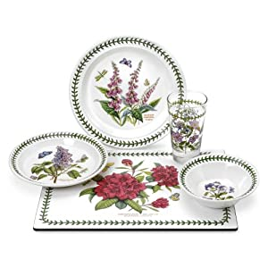 Portmeirion Botanic Garden Amazon Exclusive 20-Piece Starter Set, Service for 4