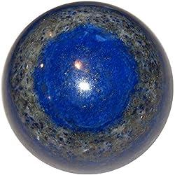 """Lapis Ball 10 Blue Third Eye Chakra Crystal Spiritual Awakening Healing Stone 2.1"""""""