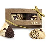 Purim Gift, Purim Hamantasch Gift, Chocolate Dipped Hamantashen Gift Box - Oh! Nuts (2 Pc. Chocolate Dipped Hamantaschen Gift Box)