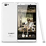 CUBOT X15 5.5 Pollici IPS FHD 4G FDD-LTE Smartphone Android 5.1 MTK6735 1.3GHz Quad Core 64bit RAM 2GB/16GB ROM 8MP 16.0MP 2750mAh Cellulare (Bianco)