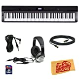 Casio Privia PX-330 Digital Piano Bundle with 8 GB SD Card, 10-Foot MIDI Cable, 10-Foot Instrument Cable, Headphones, and Polishing Cloth