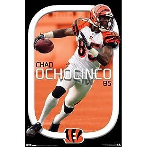 Cincinnati Bengals Chad Ochocinco Sports Poster Print - 22x34