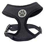 BINGPET BB5001 Soft Mesh Dog Puppy Pet Harness Adjustable - Black