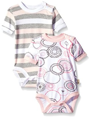 Burts-Bees-Unisex-Baby-Organic-Set-Of-2-Spiral-Bee-and-Stripe-Bodysuits