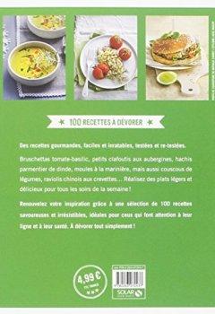 Livres Couvertures de Plats minceur pour soir de semaine - 100 recettes à devorer