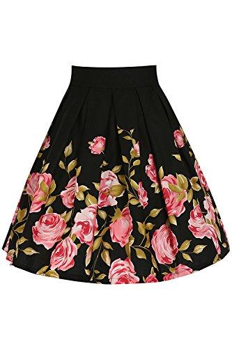 Babyonline® Damen Sommer Geblümt Vintage 50er 60er Rock Kleid