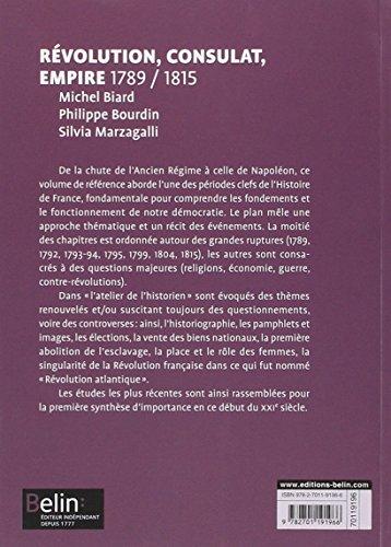 Telecharger Révolution, Consulat, Empire 1789-1815 - Format compact de Michel Biard
