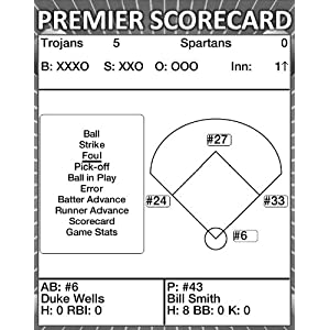 Premier Baseball Scorecard (An Interactive Score Keeping Tool for Kindle) by Premier Digital Publishing