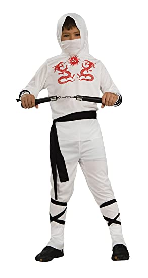 Haunted House Child's White Ninja Costume, Large