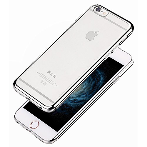 COOLOO iPhone6S ケース iPhone6 ケース iPhone6S plus TPUメッキ加工 超薄型耐衝撃 最軽量 一体型 耐久性が高い 電波影響無し 取り出し易い クリアタイプ TPU 透明 カバー アイフォン6s/6/plus対応 全五色iPhone6/6s シルバー