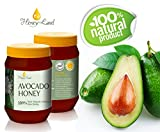Honey Land 100% All-Natural 500ml | 17.6oz Avocado Honey - Organic From the Nectar of The Israeli Avocado flower Blossom - Rich Molasses Taste - Treat and Soften Skin Naturally Without Chemicals! So Delicious for Marinades and Glazing Meat Kosher