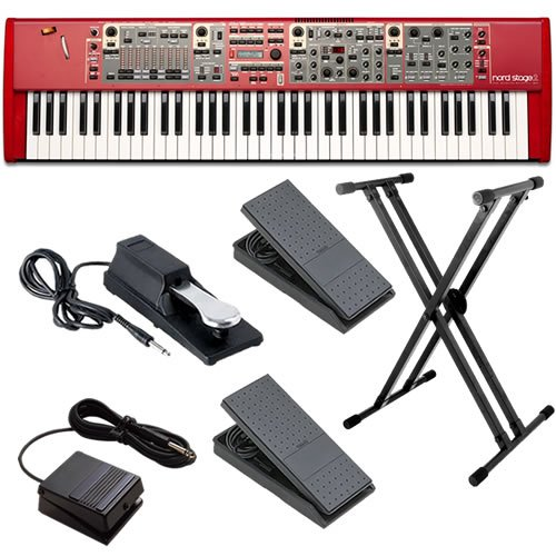 Nord Stage 2 Compact Stage Piano ESSENTIALS BUNDLE w/ Stand & Pedals