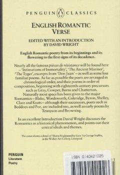 Livres Couvertures de English Romantic Verse