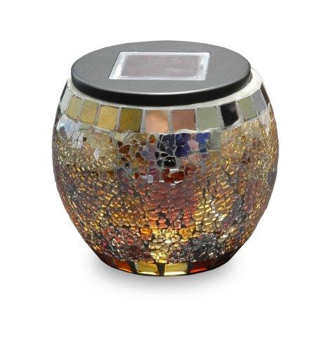 Mark Feldstein & Associates SMG10J Solar Mosaic Jar Globe Jewel Tone