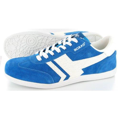Boras Große Skater Sneaker Herrenschuhe in Übergrößen Blau, Größe:48