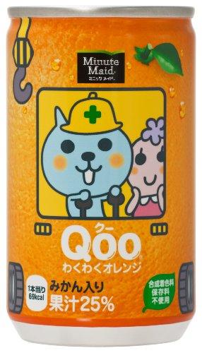 コカ・コーラ ミニッツメイド Qooわくわくオレンジ 160g×30本