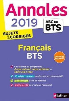 Telecharger Annales BTS 2019 Français de Claire Sani