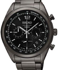 Seiko  SSB093P1 - Reloj de cuarzo para hombre, con correa de acero inoxidable, color plateado