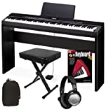 Casio PX-330 Digital Piano HOME BUNDLE w/ Furniture Stand and Bench