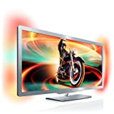 Philips 50PFL7956K/02 127 cm (50 Zoll) 21:9 Ambilight 3D LED-Backlight-Fernseher, Energieeffizienzklasse B (Full-HD, 400 Hz PMR, DVB-T/C/S, Smart TV) silbergrau