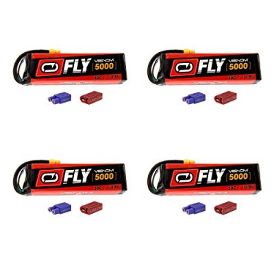 Venom-Fly-30C-4S-5000mAh-148V-LiPo-Battery-with-UNI-20-Plug-XT60DeansEC3-x4-Packs-Compare-to-E-flite-EFLB50004S30