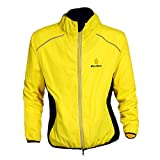 WOLFBIKE Cycling Jacket Jersey Sportswear Long Sleeve Wind Coat, Color: Yellow, Size: XL
