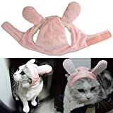 Bro'Bear Bunny Rabbit Hat with Ears for Cats & Small Dogs Party Costume Accessory Headwear (Pink Bunny, Large)