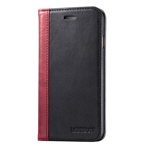 Lensun iPhone6sケース/iPhone6ケース 手帳型 本革  おしゃれ  カバー マグネットなしスタンド機能 カードポケット 財布型 アイフォン6s/6ケース