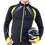 SANTIC Cycling Fleece Thermal Long Jersey Winter Jacket Yellow-Gabriel XXXL